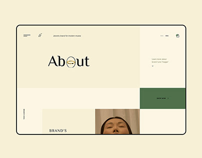 Jewelry online store. Redesign. Concept