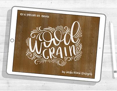 Wood Grain Procreate Brush
