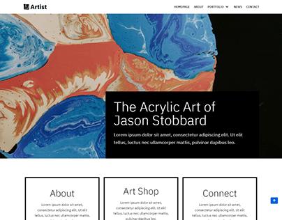 Artist, Art wordpress landing page