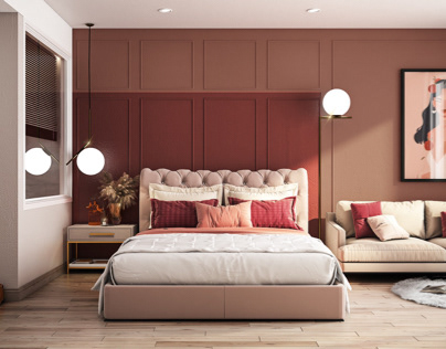 Tuscan red bedroom