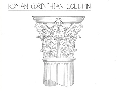 Roman Corinthian Column Drawing