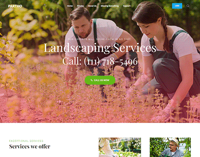 Landscaping Service Landing Page