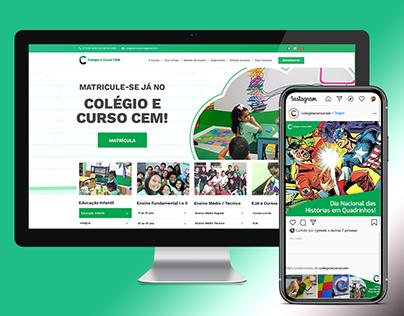 Novo site e posts para o Colégio e Curso CEM