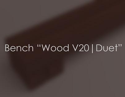 """Bench """"Wood V20   Duet"""""""