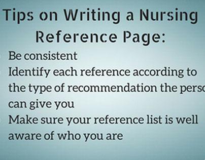 Nursing Reference Page Writing Tips