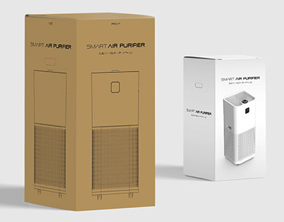 air purifier product box package design