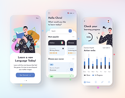 Language Learning Mobile App