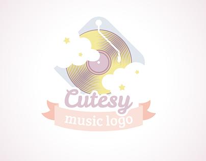 Cute music logo
