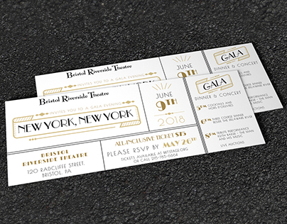 2018 Gala: invitation design