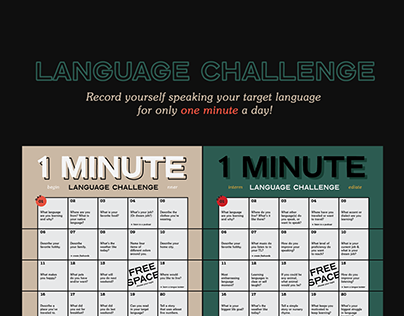 Language Challenge Calendar