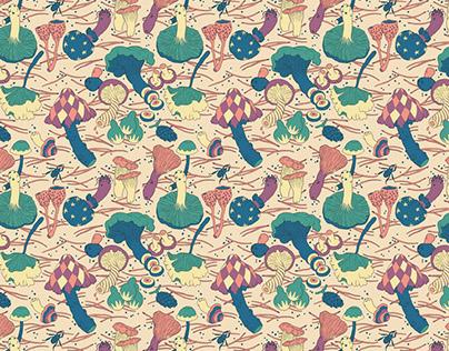 Magic Mushrooms Pattern