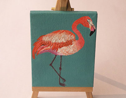 Hand painted mini canvases