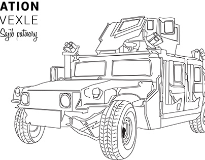 Army vehicle vector illustration ----