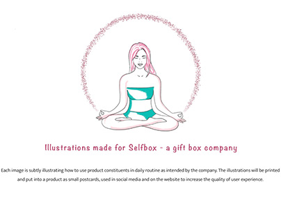 """Illustrations for the gift box company """"The Selfbox"""""""