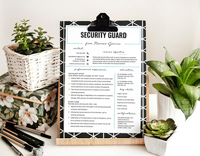 Free Security Guard Resume Template