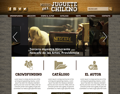 Sitio Web Museo del Juguete Chileno (MJCH)