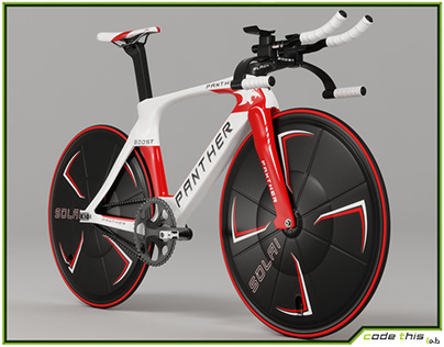 3D Model: Track Bicycle Animated HQ 002