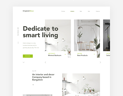 Delightful Decor & Interior studio website design