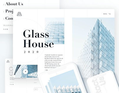 Architecture Website Concept Design