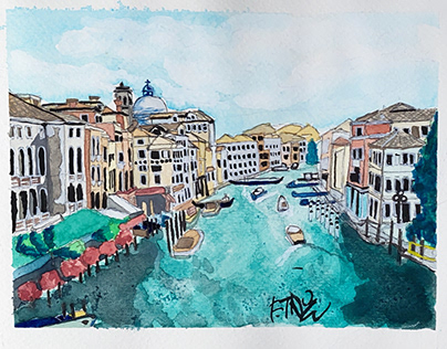 Venice, Italy - Watercolor on Wednesday