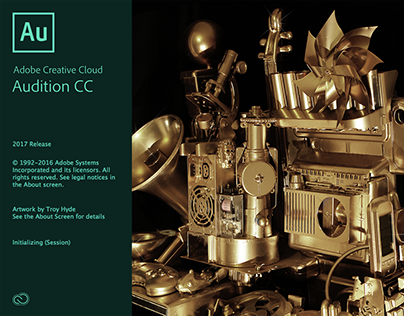 ADOBE AUDITION CC 2017 SPLASH SCREEN
