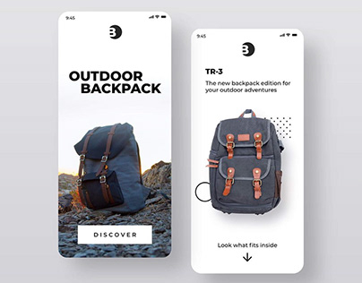 Minimal backpack mobile design