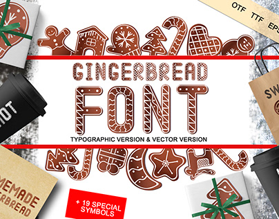 Gingerbread font - typographic and vector version