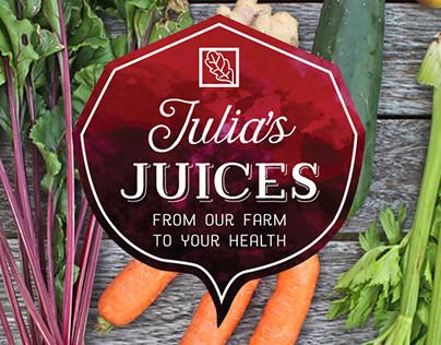 Julia's Juices Branding