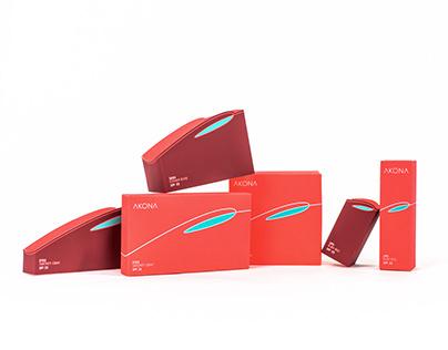 AKONA - Cosmetics Package Design