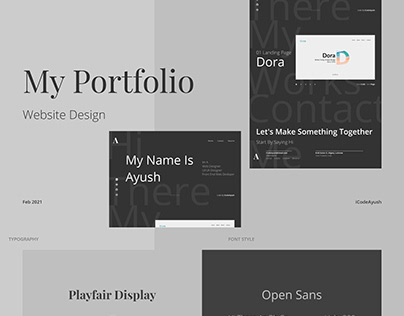 My Portfolio Website (Golden Canon Grid)
