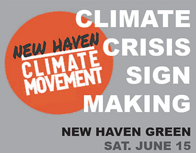 Digital Poster Redesign: New Haven Climate Movement