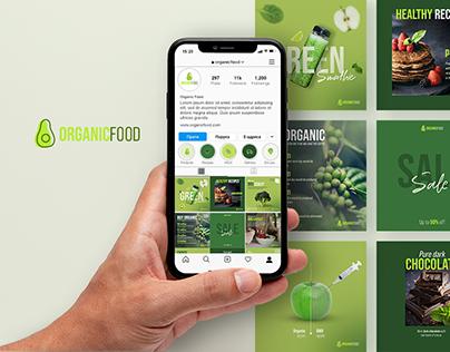Organic Food Instagram Feed Design