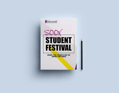 Microsoft Tech Club - Suez University - Flyers Campaign
