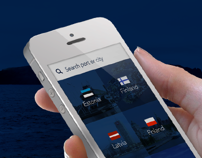 SeaPorts mobile app and landing page design