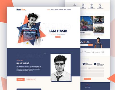 HassBro - Personal Portfolio landing page