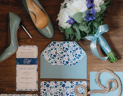 Sea style wedding identity D&Y. 20.07.2015