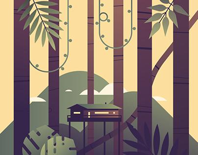 Animated jungle illustration