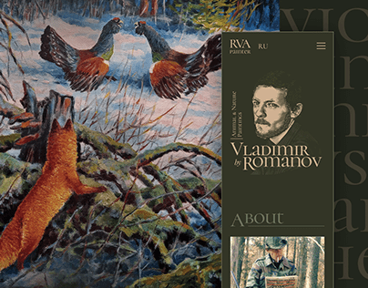Website of the Russian artist Romanov V.