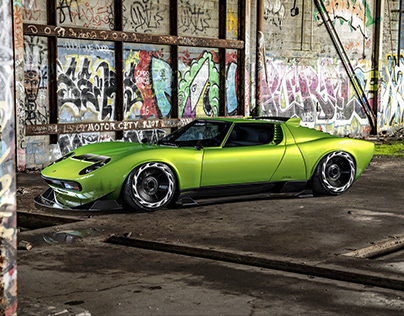 Lamborghini Miura Widebody | CGI