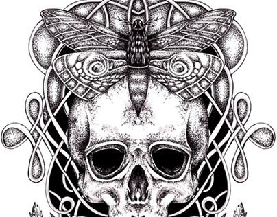 Moth & Skull (Tattoo)