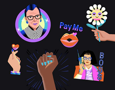 Animated stickers // Women's History Month