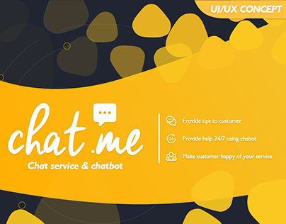 Chat.me tool UX/UI concept
