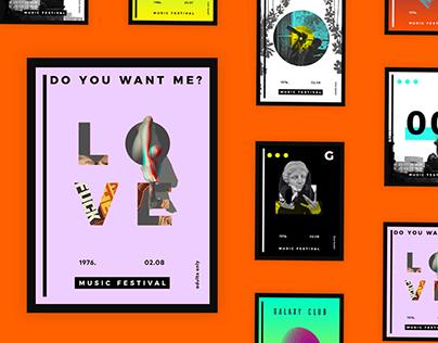 Galaxy Club ( Poster Series / Web Design)