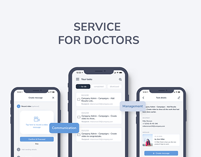 Communication & Management Service for doctors