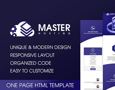 MasterHosting | One Page Web Hosting HTML Template