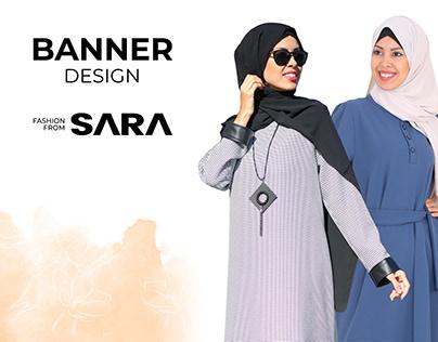 Fashion From Sara web site banner & slide design