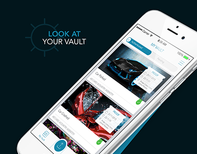 "Cross Platform UX&UI Design, ""My Vault"" App,"