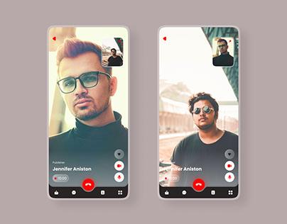 Video Call UI / UX Design