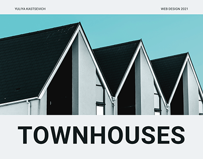 Landing page for townhouses' building company
