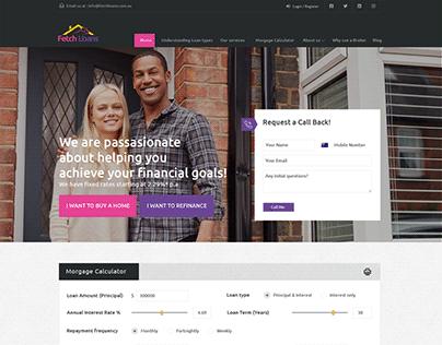 Website design for Fetch Loans